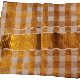 Kerala Saree Tissue Checked