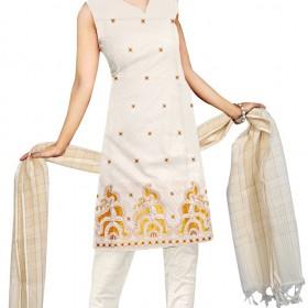 Kuthampully Kasavu Embroidery churidar
