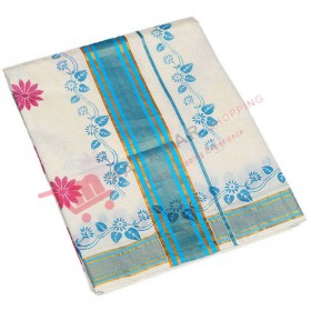 Kerala Kasavu Saree With Special Valli Print