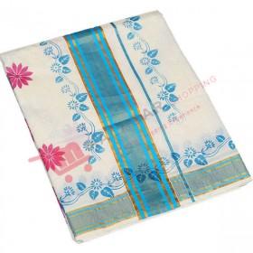 Kerala Kasavu Saree With Special Valli Print