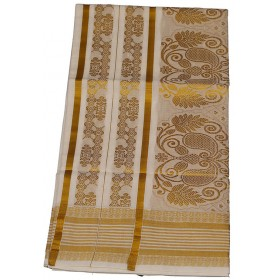 Kuthampully Special Stripes Kasavu Saree