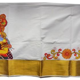buy kerala kasavu saree with vennakannan design