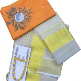 Onam Special Trendy Kerala Settu Mundu