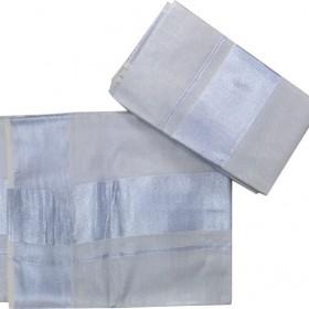 Onam Special Kerala Silver Tissue Settu Mundu