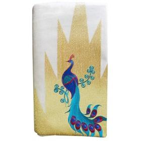 Kerala Settu Saree With Peacock Embroidery