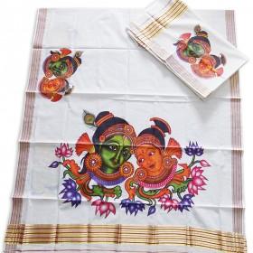 Kerala Trendy Mural Print Settu Mundu