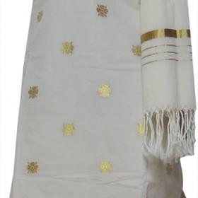 Kerala Traditional Handloom Kasavu Set Churidar