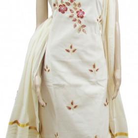 purchase kerala settu floral kasavu saree