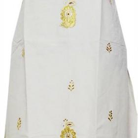 Kerala Handloom Kasavu Churidar with Embroidery